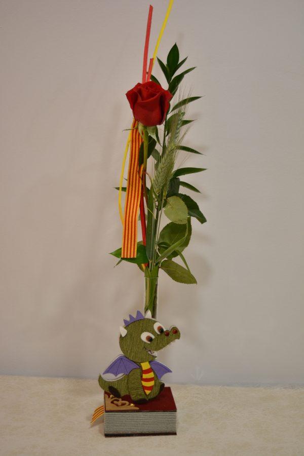 rosa para sant Jordi con dragón