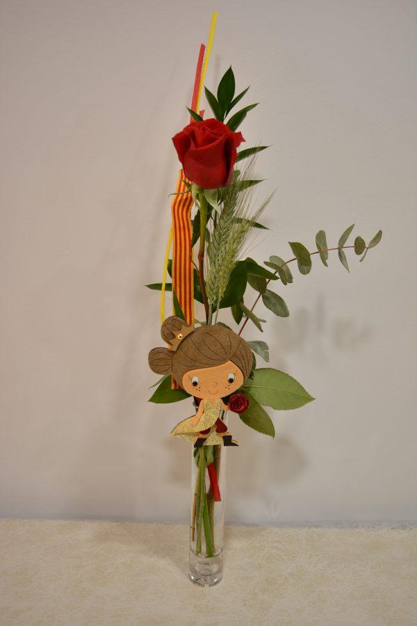 Rosa para Sant Jordi con Princesa. Envío a Domicilio